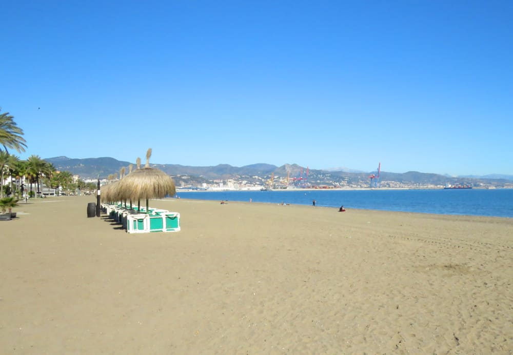 Beach in Malaga Spain. Could we live here?