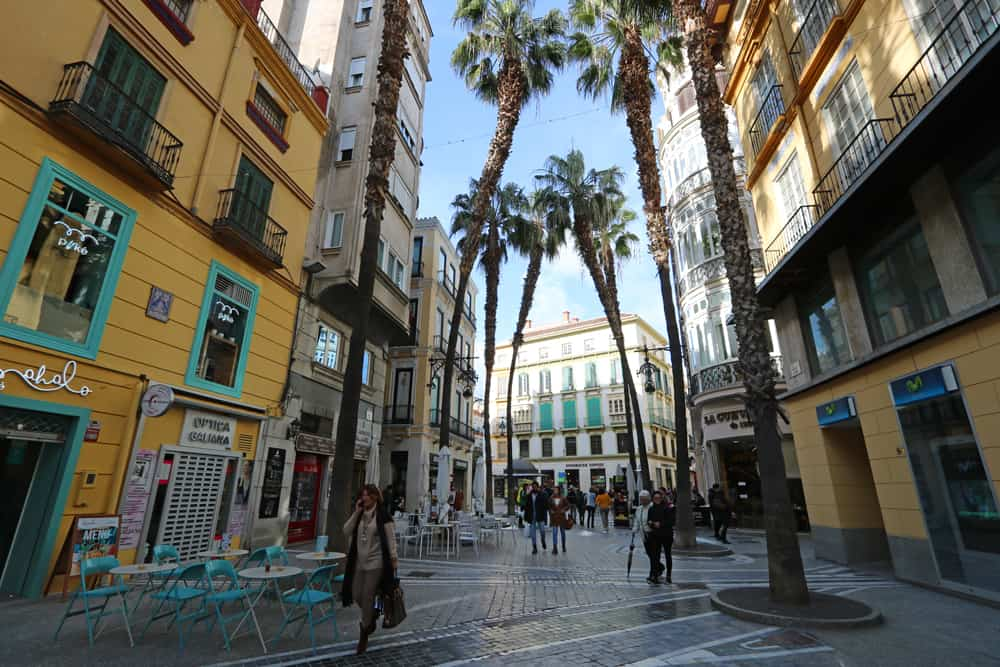 street in historic Malaga (Spain). Could we live there?
