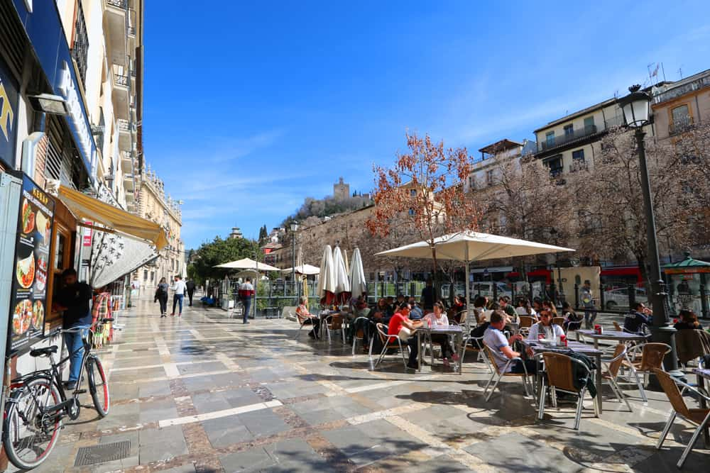 Plaza Nueva in Granada, Spain. Could we live here?