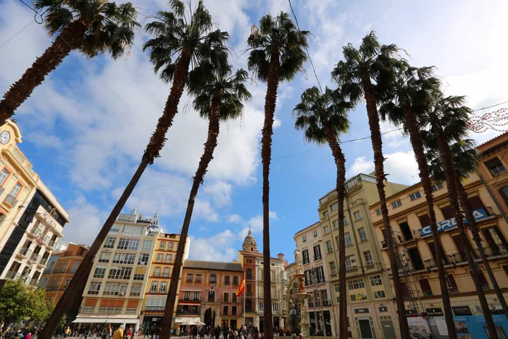 Square in Malaga. Could we live there?