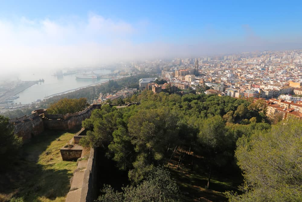 views from the Castillo de Gibralfaro, Malaga
