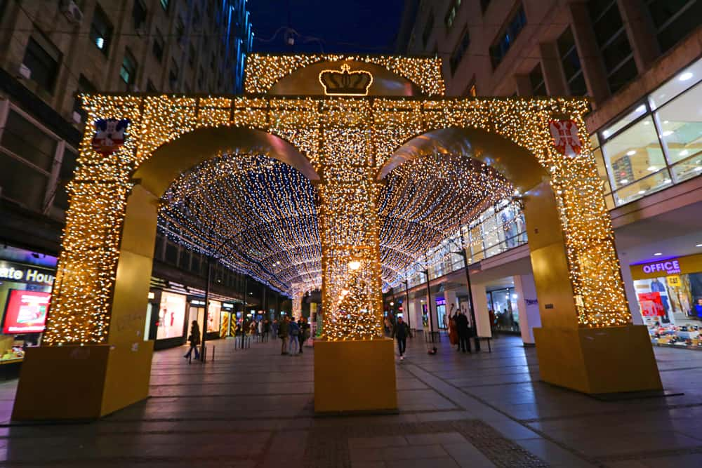 Christmas decorations in Belgrade. 27 Pictures that will inspire you to visit Belgrade