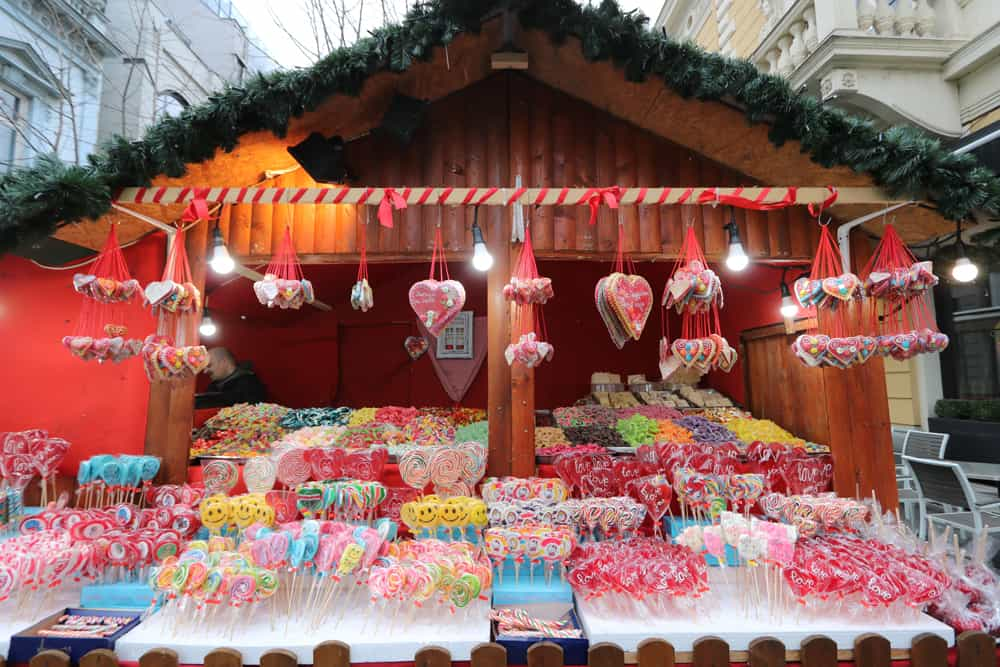 candy stand in Belgrade