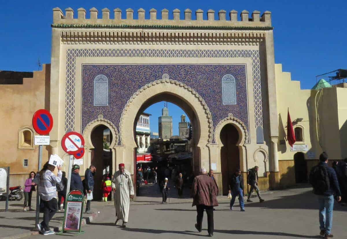 Bab Bou Jeloub, Fez. Ultimate guide to surviving Morocco