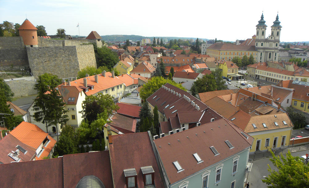 views in Eger, Hungary