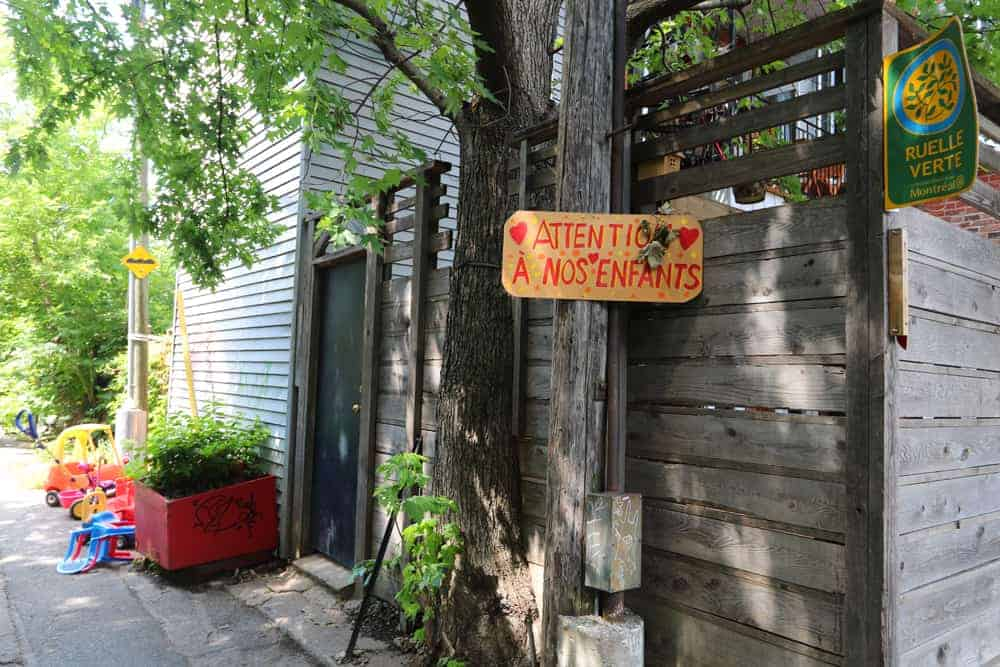 The best Green Alleys on the Plateau Mont-Royal