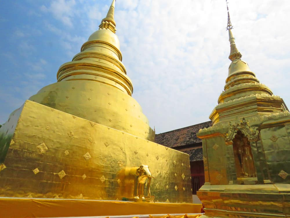 Wat Phra Singh, one of Chiang Mai's most popular temples